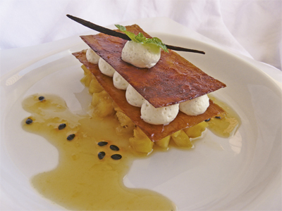 Millefeuille a l'ananas